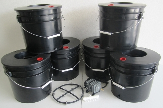 Deep Water Culture DWC Hydroponic System six bucket five gallon