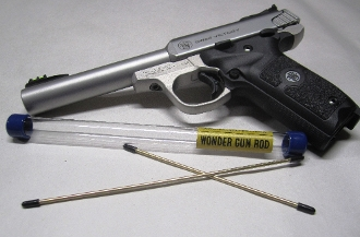 Smith & Wesson Victory SW22 Wonder Gun Rod gives you 360 degree cleaning as it passes through the bore.
